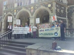 Church House vigil 140709